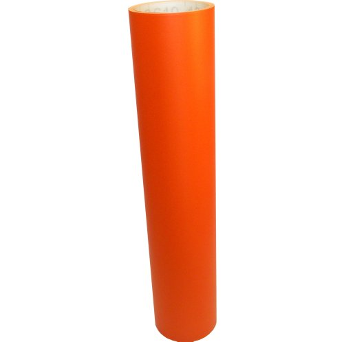 Vinyl Oasis Craft & Hobby Vinyl - Matte Orange W/ Removable Adhesive - 12 In. X 10 Ft. Roll