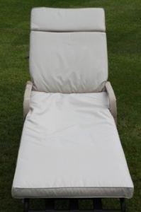 UK-Gardens Cream Beige Garden Furniture Garden Lounger Chair Cushion