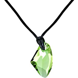 Amazon.com: Handcrafted Peridot Avant-Garde Leather Necklace MADE WITH