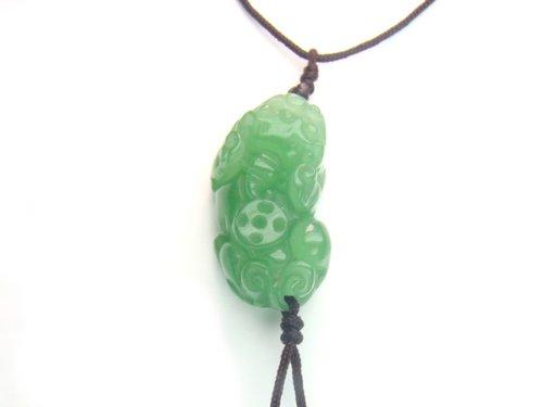 Aventurine Pi Yao 20x30mm String Necklace