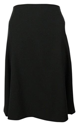 Calvin Klein Women'S Woven Flared Skirt (4, Black)