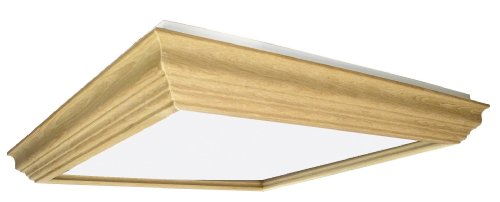 Lighting by AFX UCM2U3R8 Winchester Crown Molding Wood Frame 2-Lamp Fixture with U-Bent T8 Lamps, Unfinished with Smooth White Acrylic Diffuser