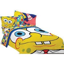 SpongeBob SquarePants Scribble Comforter twin/full cute spongebob squarepants figure plush backpack school bag style assorted