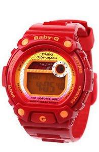 Casio Women's Baby-G BLX100-4 Resin Quartz Watch with Orange Dial