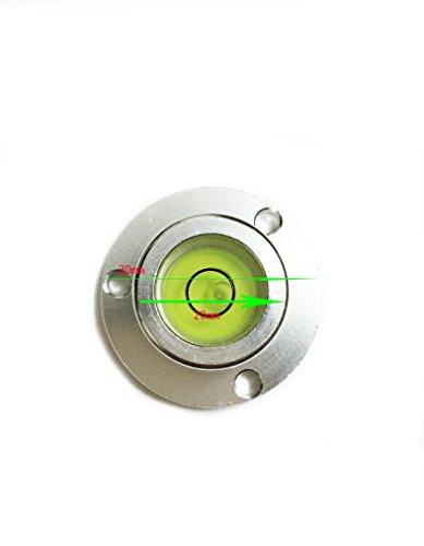 Aluminium Housing Surface Mounted Circular Spirit Level Bubble Ball Vials , Green Liquid from Preamer