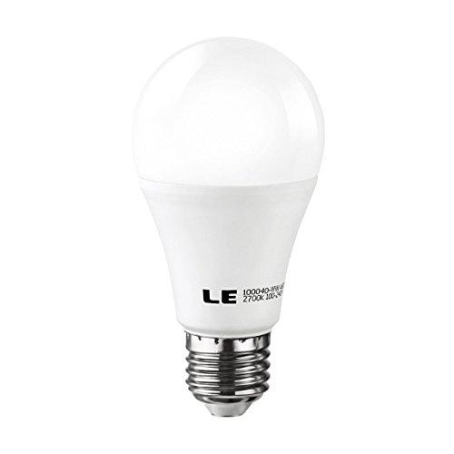 Le 12W A19 E27 Led Light Bulbs, Brightest 75W Incandescent Bulbs Equivalent, 1010Lm, Warm White, Medium Screw, Led Bulbs