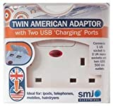 Travel Adaptor Uk To Usa, Twin Usb