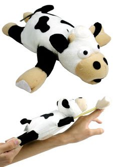 Slingshot Flying Cow Toy w/ Sound Flingshot Gag - 1