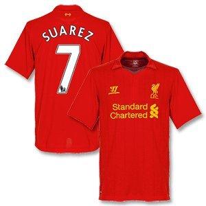 12-13 Liverpool Home Shirt Suarez 7-xl by Warrior