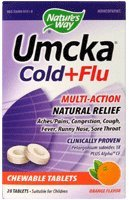 Natures Way Umcka Cold & Flu, Orange Chewable 20 Ct
