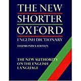 The Shorter Oxford English Dictionary: with thumb index (0198611277) by Little, William