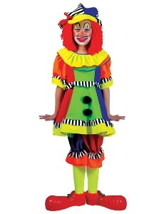 Spanky Stripes Female Clown Child Costume Size Small