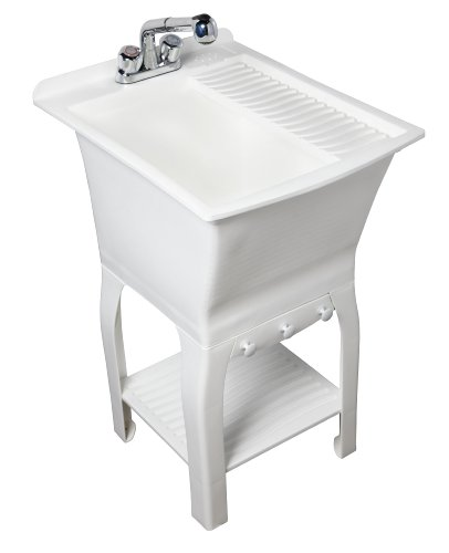 18 Inch Utility Sink With Cabinet : ... 102085 Esquire All In One 18 Inch Utility Sink Kit 15 Gallon White