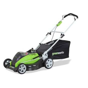GreenWorks 25312 G-MAX 19-Inch Mower, (2) G-MAX 40V 4 AH Li-Ion Battery and Charger Inc. picture