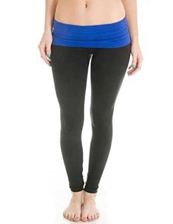 4fbe1041958b5 Cotton Cantina Juniors Fold Over Cotton Spandex Leggings