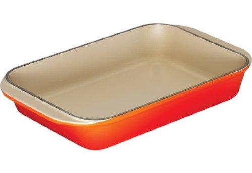 Le Creuset Cast Iron Rectangular Oven Dish, Volcanic, 30 cm