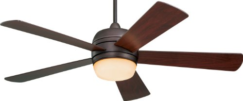 Emerson Cf930Orb Atomical Indoor/Outdoor Ceiling Fan, 52-Inch Blade Span, Oil Rubbed Bronze Finish, Mahogany Blades And Amber Glass
