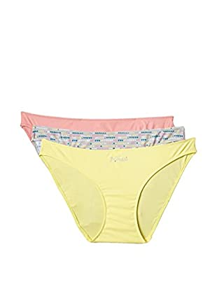 Princesa by Playtex Pack x 3 Braguitas (Amarillo / Rosa / Azul)