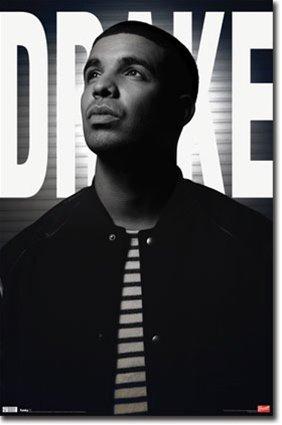 Drake Rapper Black and White Music Poster Print - 22x34