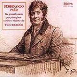 Cover of Tre Grandi Sonate by Ferdinando Paer (1995-05-03)