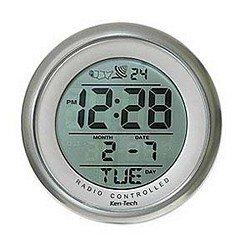 Atomic Bathroom Digital Alarm Clock With suction cup (Silver)