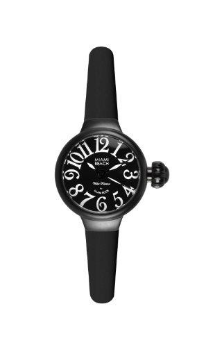 Glam Rock - 0.96.2942 - Montre Femme - Quartz Analogique - Bracelet Silicone Noir