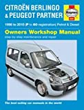 Haynes Garage Quality Car Repair Manual/Book for Citroën Berlingo & Peugeot Partner Petrol & Diesel (96 - 10) P to 60 Including a De-Mister Pad and 1 Car Air Freshner.