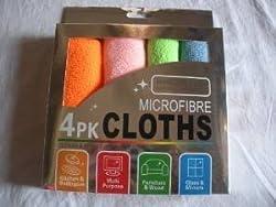Wyane Enterprises EXTRA LARGE MICRO FIBRE CLEANING CLOTH SET OF 4 COLORFUL PI...