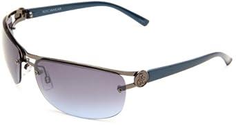 Rocawear Men's R1183 GUNBL Metal Sunglasses,Gun Frame/Gradient smoke to blue Lens,one size