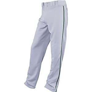 Easton Adult Quantum Plus Pro Piped Baseball Pants , Gray/Green, XL