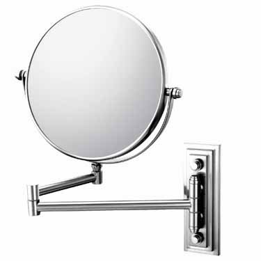 Kimball & Young 93344Hw Single-Sided Hardwired Wall Mirror, Chrome front-715041