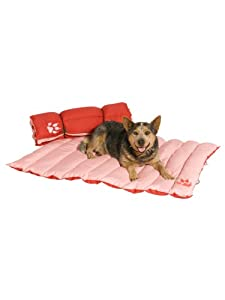 """Adventure Mat Dog Bed by Kakadu Pet, Extra Large, 47"""" x 31 1/2"""", Rouge & Blush (Red & Pink)"""