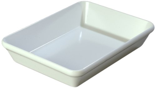 "Carlisle 791902 Designer Displayware Melamine Baker Dish, 2.9 Qt. Capacity, 12"" L X 8-1/2"" W X 2.2"" H, White (Case Of 4)"