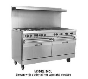 Vulcan-Hart Ev60-Ss6Fp24G240 1 - 60-In Range W/ 6-French Hot Plates, 2-Standard Ovens, 240/1 V