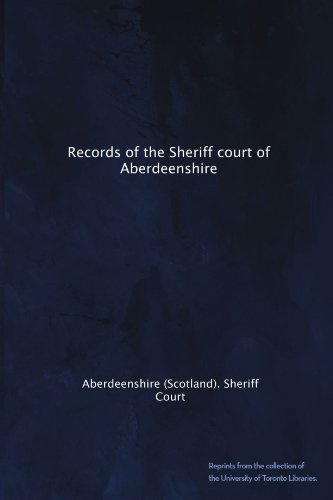 Records of the Sheriff court of Aberdeenshire