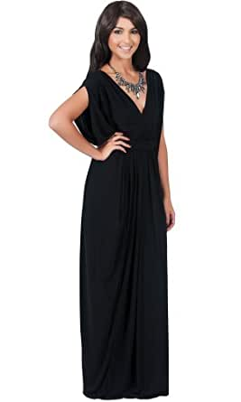 Elegant Long V-Neck Evening Cocktail Kaftan Maxi Dress: Amazon Fashion