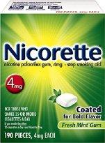 Nicorette Gum Fresh Mint 4 mg - 190 Count