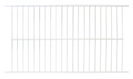 Wire Shelf Freezer E With White Earbud Headphones