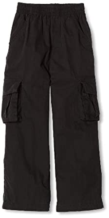 Wes and Willy Little Boys' Lined Cargo Pant, Black, 4
