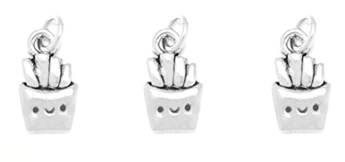 (3) Clayvision Happy French Fries Charm for Bracelets Necklaces Key Chains (French Fry Necklace compare prices)