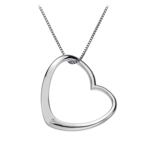 Hot Diamonds Extravagance Open Heart Pendant of 46cm