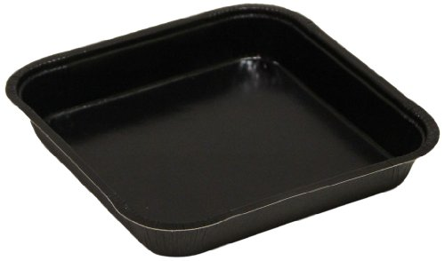 "Solut 43345 Black Elegance Corrugated Paperboard Tray, 31-Fluid Ounce Capacity, 8"" Length X 8"" Width X 1-1/4"" Height (Case Of 250)"