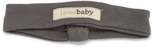 L'Ovedbaby Baby-Girls Infant Headband, Clay Gray, 6-12 Months front-723193