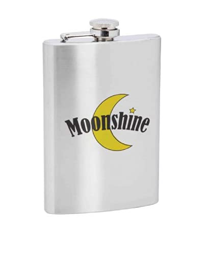 """""""Moonshine"""" Stainless Steel Flask"""