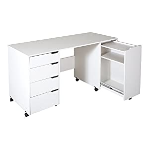 south shore crea sewing craft table on wheels. Black Bedroom Furniture Sets. Home Design Ideas