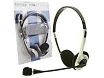 , PC Stereo Headset (Silver) ET-278, for Notebook, Computer, Game ...