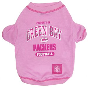 Green Bay Packers NFL pet dog football tee PINK S 8-15lbs