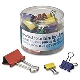 OfficemateOIC Binder Clips, Assorted Colors and Sizes, 30 Clips per Tub (31026) 4 Tubs (120 Clips)
