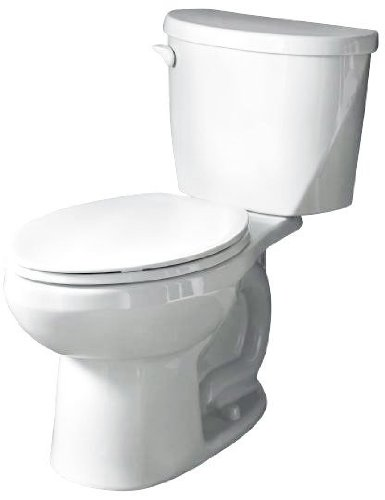 American Standard 2428.800.020 Evolution 2 Right Height Elongated Two Piece Toilet with Right Hand Trip Lever, White