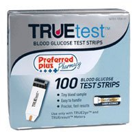 Blood Glucose True Test Strips**kpp - 100 EA